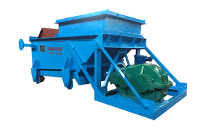 K型往複式給煤機的主要型號爲:K1、K2、K3、K4;用于煤或磨琢性小、粘性小的松散粒狀物料,將儲料倉或料坑裏的物料連續均勻地卸落到運輸設備或其它篩選設備中。