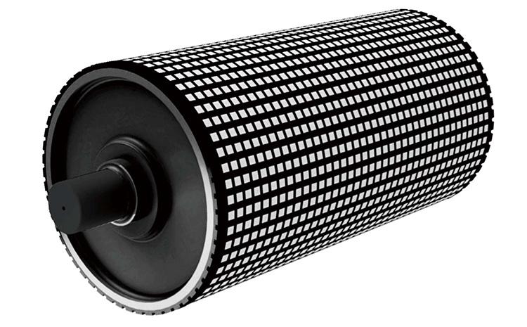 皮带输送机滚筒包胶有什么效果?