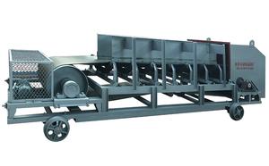 可逆配仓带式输送机广泛用于仓顶卸料,卸料点可移动,实现长距离连续多点卸料;双向运转实现双向卸料;整机高度降低,适用于卸料车不能使用的场合。